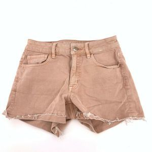 AEO Super Super Stretch Hi Rise Shortie Short Sz 2